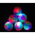 Flashing Rainbow Spiky Bounce Balls 65MM