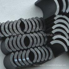 Aimants en ferrite frittés en forme d'arc utilisés pour le moteur