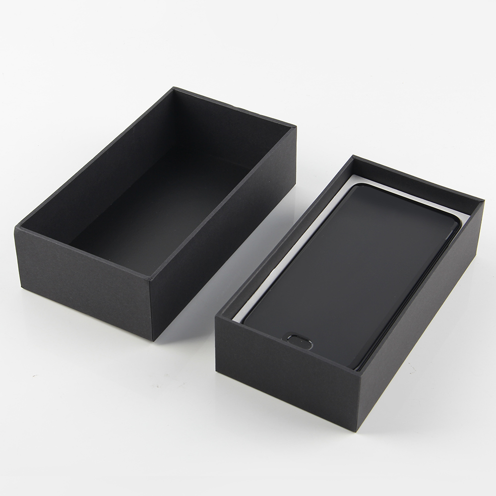 High Quality Black Paper Mobile Packaging Box