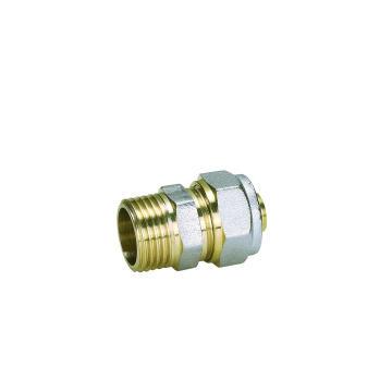 Messingfittings für Pex-Al-Pex Rohr mit geradem Stecker