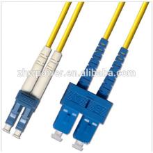 SC / UPC ao cabo de remendo singlemode de LC / UPC, preço óptico do cabo de remendo, fornecedor do cabo de remendo da fibra óptica dobro