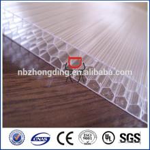 ISO / SGS genehmigte Qualität 10-Jahr-Garantie Bayer Makrolon Waben-Polycarbonat-Blatt