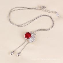 Dernier collier de pomme de mode pour cadeau d'anniversaire