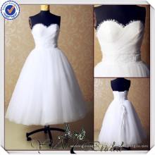 JJ3549 Saia de Tulle vestidos de noiva de creme curto Com Jackt vestidos de casamento de curto país
