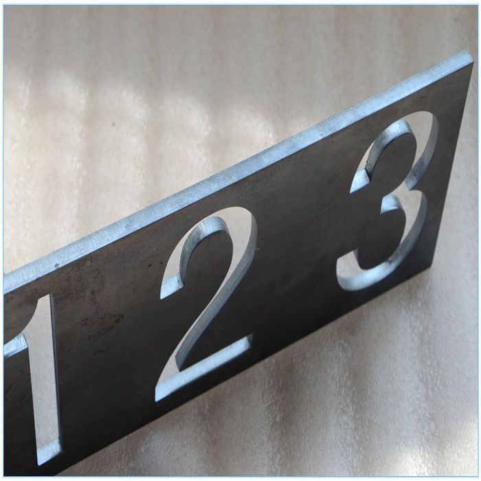laser cutting metal numbers