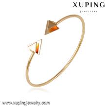 51643- Xuping flèche design manchette bracelet en alliage de cuivre bijoux