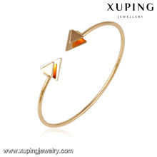 51643- Xuping arrow design cuff bangle liga de cobre jóias