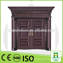 High quality double leaf steel metal door with big size