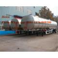 Reboque de alumínio do petroleiro de 3 Alxe com suspensão do ar