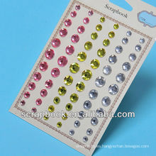Etiquetas de adhesivo cristal Bling