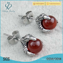 Fashionable design antique red bead charm earrings 2015
