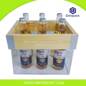 new design natural ice bucket wood