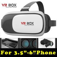 """Head Mount Plástico Vr Box 2.0 Versão Vr Virtual Reality Óculos Google Cardboard 3D Movie Game para 3.5 """"- 6.0"""""""