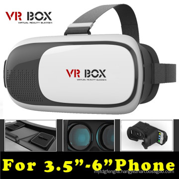 "Head Mount Plastic Vr Box 2.0 Version Vr Virtual Reality Glasses Google Cardboard 3D Game Movie for 3.5"" - 6.0"""