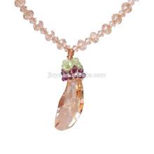Forme el collar pendiente cristalino único del oro de Bling para el partido o la demostración