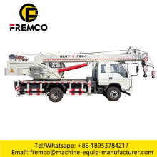 Straight arm hoisting truck crane
