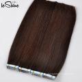 Extensiones rizadas al por mayor del pelo de la cinta de Remy de la cinta 9A del rca doble en extensiones del pelo Cabello humano virginal de la cinta