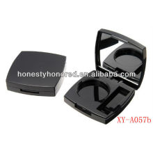 Empty plastic compact powder case cosmetics packaging plastic eyeshadow case