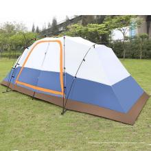 Camping de deux chambres à l'épreuve de la pluie 5-8 personnes double couche grande tente