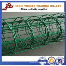 Valla de acero-012 Ventas calientes Color verde Instalar valla de aluminio