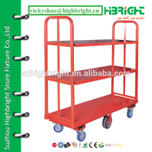 3-layer trolley cart,material handling warehouse cart,supermarket metal U boat cargo cart
