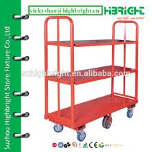 3-х слойная тележка, складская тележка для перевозки грузов, корзина для супермаркетов U