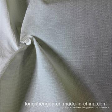 Resistente al agua y anti-estática ropa deportiva Tejido piel de melocotón 100% Jacquard tela de poliéster Tejido gris gris (E187B)
