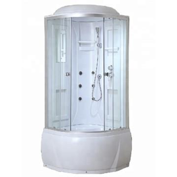 Weiße Duschkabinen in den USA
