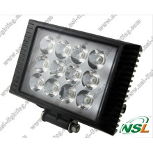 LED Work Light Flood Beam, 4x4 12V Retangle LED Tractor Work Lamp (NSL-3612C-36W)
