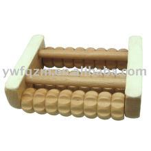 Rodillo de masaje de pies de madera