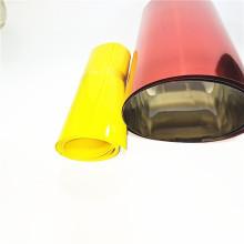 Folha de rolo de plástico dourado rígido