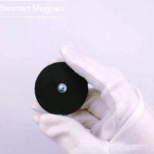 Recipiente de revestimiento de caucho de neodimio con rosca externa