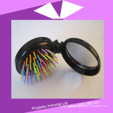 Portable Compact Mirror with Comb Hair Brush for Gift (BH-027)