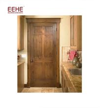 Porte découpée simple adaptée aux besoins du client de pièce de bois de construction dans la porte de panneau affleurante