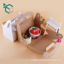 Lebensmittelqualität Material FSC-Zertifikat Karton Eiscreme-Träger-Paket