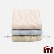 Luxuoso cachemira fina costela malha China cobertor