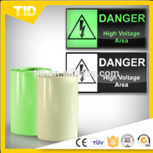 luminescent film for safety guide, green grow tape
