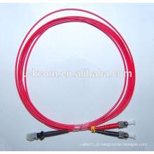MTRJ / ST OM4 Fibra Óptica Patch Cable