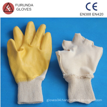 nylon working gloves coated with nitrile