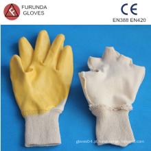 Luvas de nylon revestidas com nitrilo