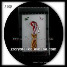 Bonita estatuilla de animales de cristal A108