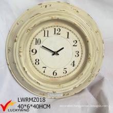 Round Wall Decor Vintage Retro Metal Clock