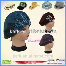 LSW33 Nuevo Beanie de las mujeres de los hombres de la manera Gorras tejidas unisex unisex del sombrero del invierno del casquillo del color sólido de Hip-hop Slouch