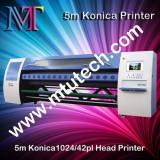 5m solvent printer of 8 konica 1024 print heads