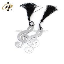 Marcador coreano barato profesional de la nota musical de plata del metal con las borlas