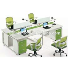 Neues Design Eisen Computer Schreibtisch Tisch für 4 Personen