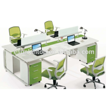 New design iron computer desk top computer for 4 person