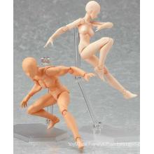 Hochwertiges kundenspezifisches PVC-Plastikkünstliches Skeleton Schädel DIY pädagogisches Spielzeug