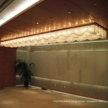 Crystal chandelier modern asfour square ceiling light hotel decoration