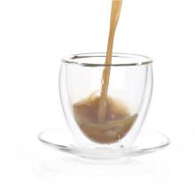 Glas-Tasse Kaffee-Set